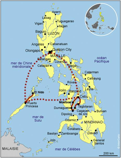 Les philippines: Itinéraire