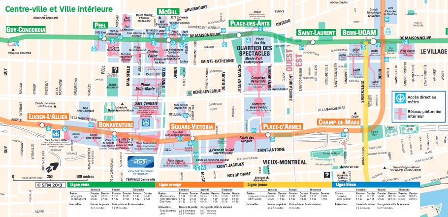 Hiver Montreal : Ville souterraine