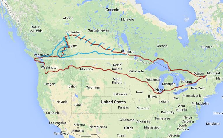 Road Trip en voiture: Itinéraire