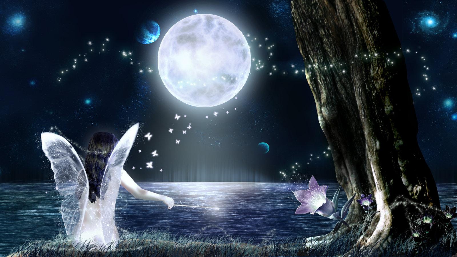 lonely fairy in the moonlight by music50933 - La force d'être une femme