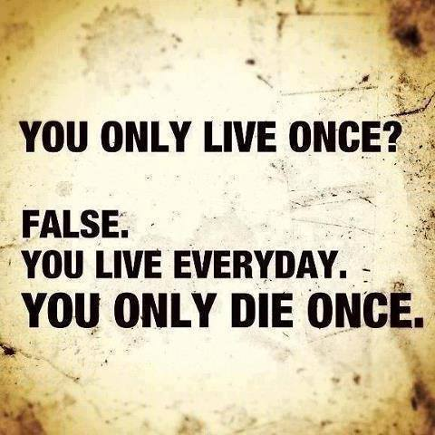you live everyday