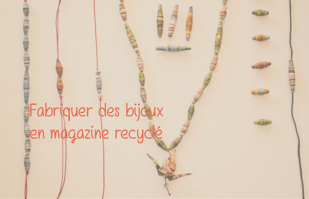 diy tuto pour fabriquer des bijoux en magazine recycl. Black Bedroom Furniture Sets. Home Design Ideas