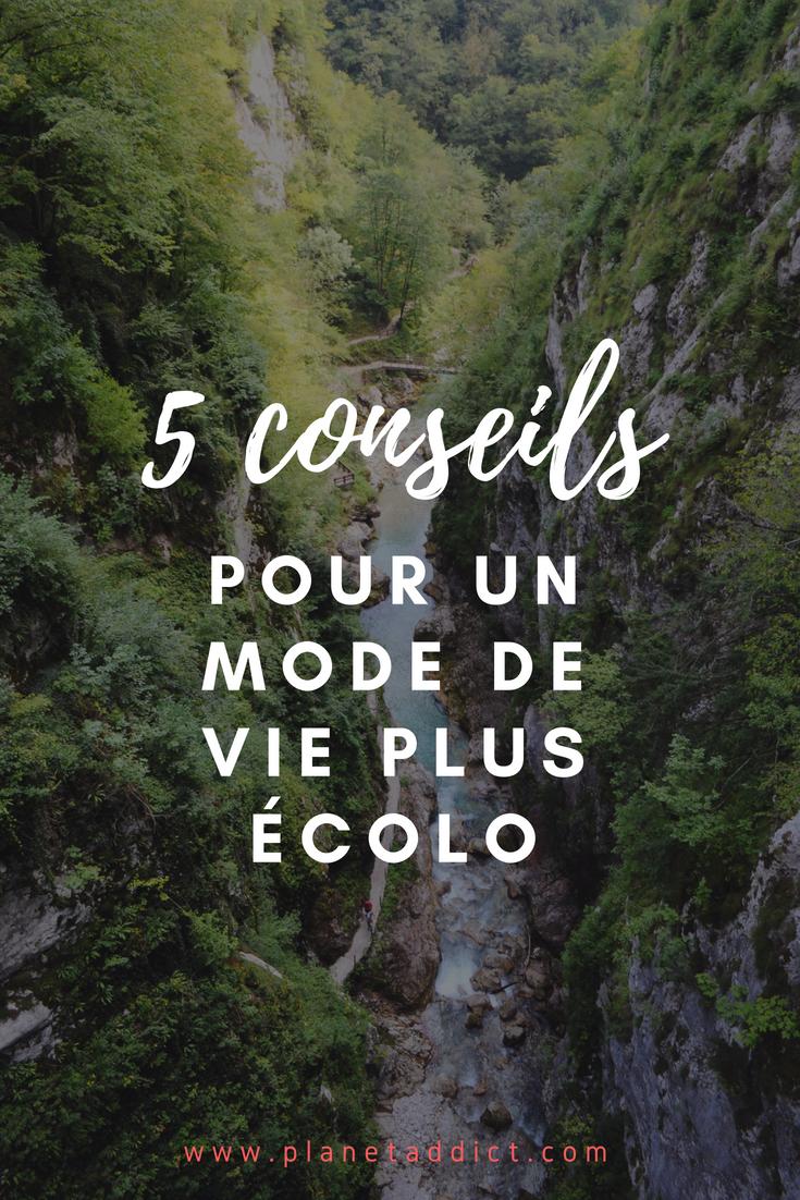 Pinterest conseils - 5 conseils pour un mode de vie plus écolo