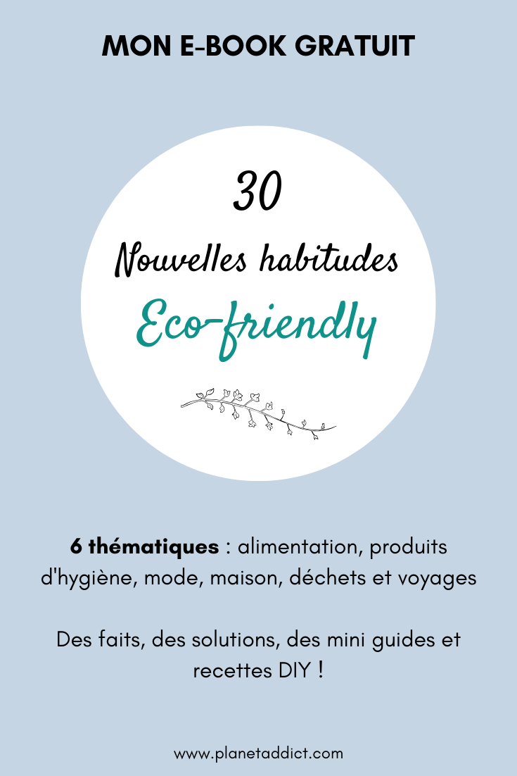 E-book 30 nouvelles habitudes ecofriendly Planet Addict