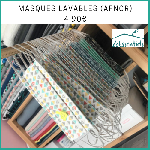 Masques lavables Afnor